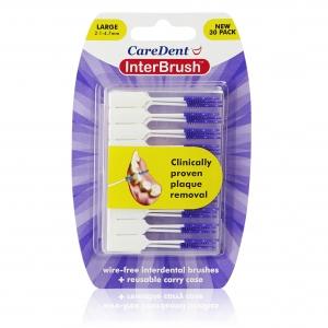 InterBrush Retail Pack Purple Large - 30pcs